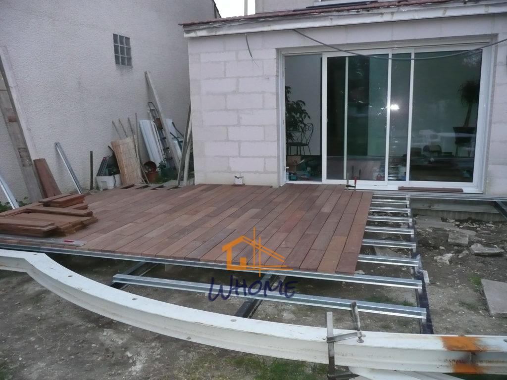 Terrasse En Bois Oise terrasse bois à structure métallique - whome - courtier en