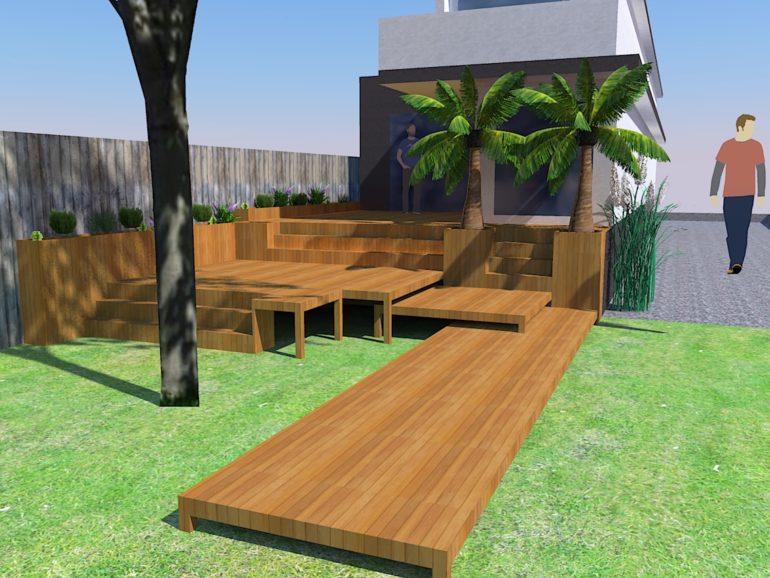 Création jardin paysager à St Prix (95)