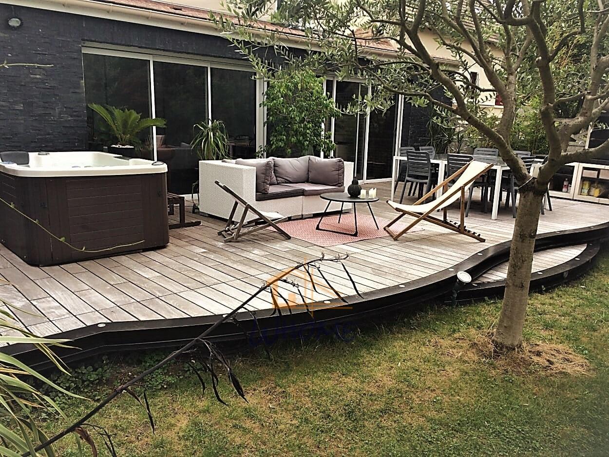 Ossature Métallique Pour Terrasse Bois terrasse bois à structure métallique - whome - courtier en