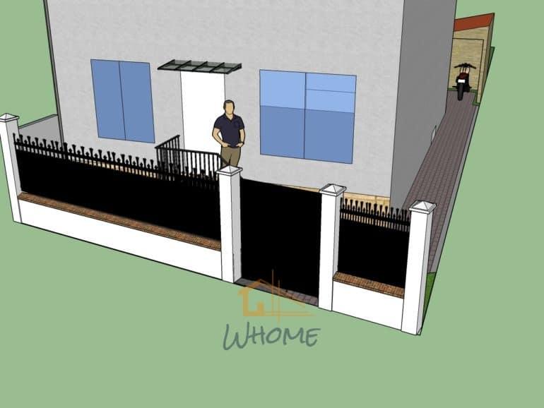 Whome, courtier en travaux - Clôture, portillon et escalier en ferronnerie, béton imprimé au sol - Chatou