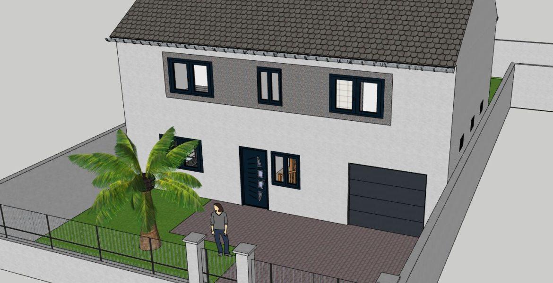 Projet de maison sur deux niveaux