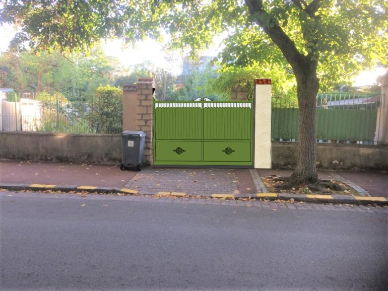 Transformation d'une entrée de parking