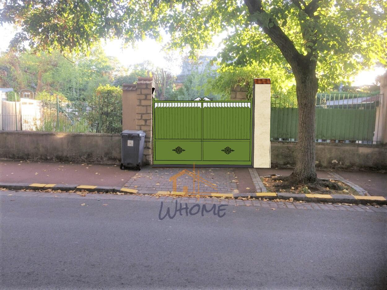 Whome, courtier en travaux - portail coulissant et déplacement poteaux en pierre - Chatou