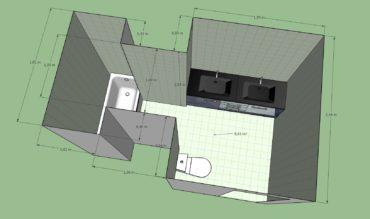 Avant / après : rénovation de salle de bain à Houilles