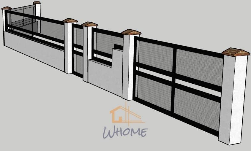 Whome, courtier en travaux - Portail, portillon et grille métallique epoxy type industriel - Houilles