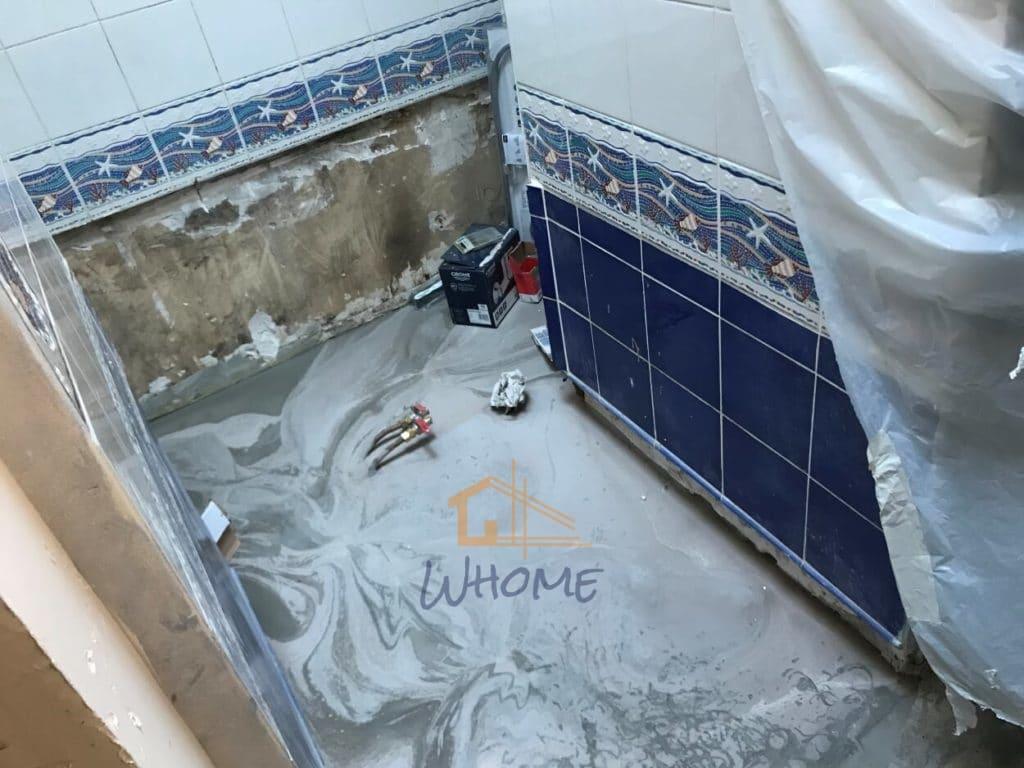 Whome, courtier en travaux - Ragréage de salle de bain - Yvelines