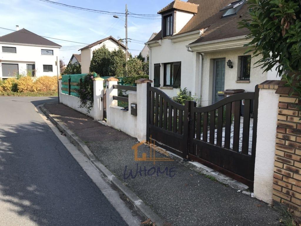 Whome - Portail et clôture avant remplacement - Houilles