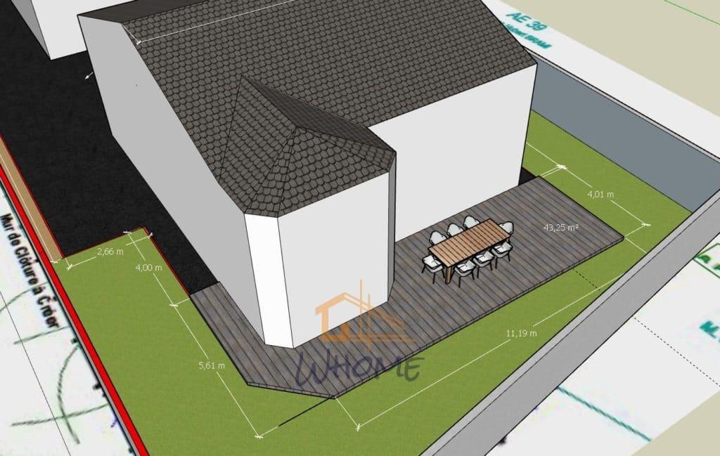 Whome - Terrassement avant installation d'une terrasse composite - maison val d'oise