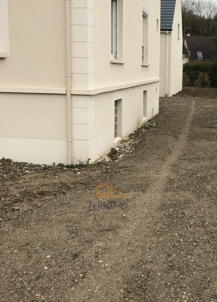Whome - nivellement terrain après travaux construction-95