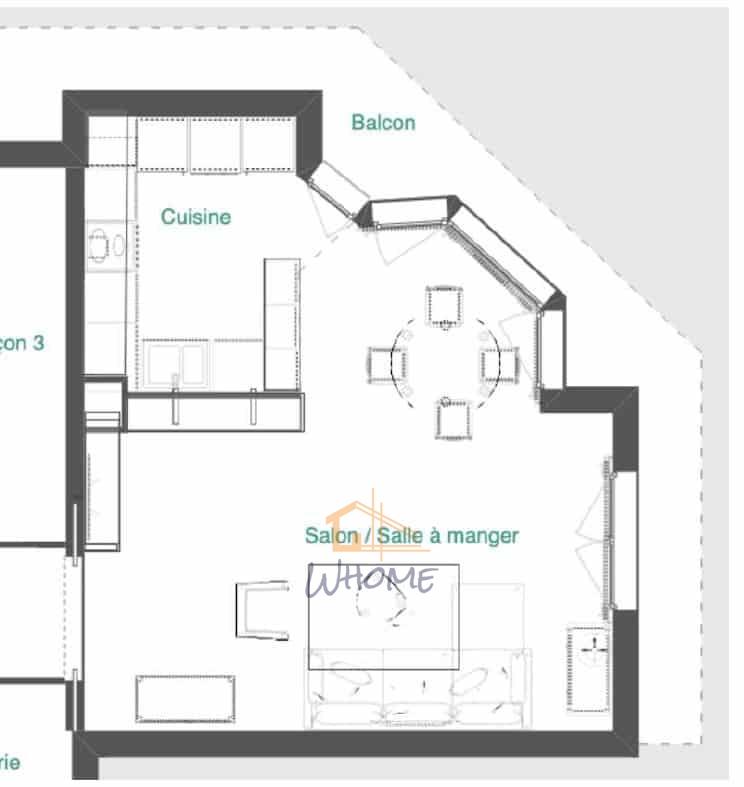 Plan 2D décoration intérieure