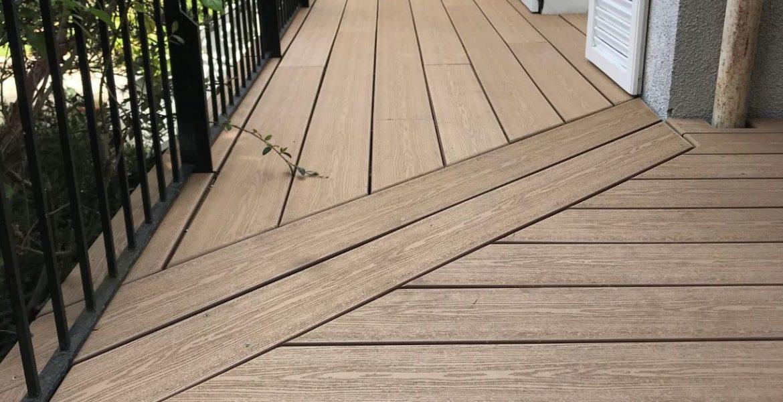 Rénovation et extension d'une terrasse en lames bois composite