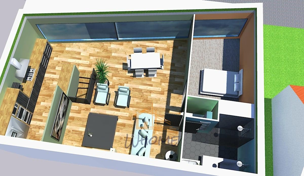Appartement baie vitrée totale
